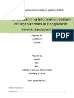 Understanding Information System of Organizations in Bangladesh-Novartis (Bangladesh) Ltd(Course-MIS)