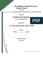 2.3 Enrutamiento Inter Vlan - Manuel Herrera