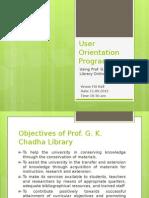User Orientation