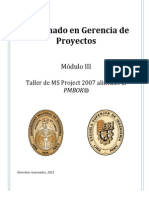 MOD III - Taller MS Project 2007