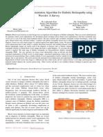 Retinal Blood Vessel Segmentation Algorithm for Diabetic Retinopathy Using Wavelet a Survey