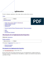 Diccionario Suplementacion Deportiva CYS