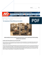 The Importance of Best Efficiency Point (BEP) - Maintenance Technology