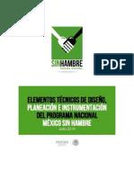 Programa Nacional Meexico Sin Hambre Elementos Metodologicos