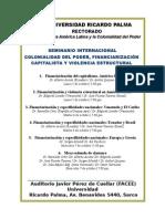 Seminario Colonialidad Financiarizacion Octubre 2015