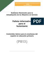 PB13 ESPAÑOL primaria