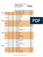 RMIT Final Exam Timetable SGS 2015-2