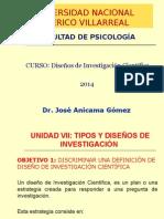 UNFV-UNIDAD-Tipos y Diseños de Investigación 2014