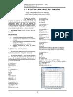 Practica de Laboratorio 1 Introduccion a Matlab y Simulink