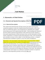 Kinematics of Fluid Motion