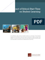 Impact of School Start Time