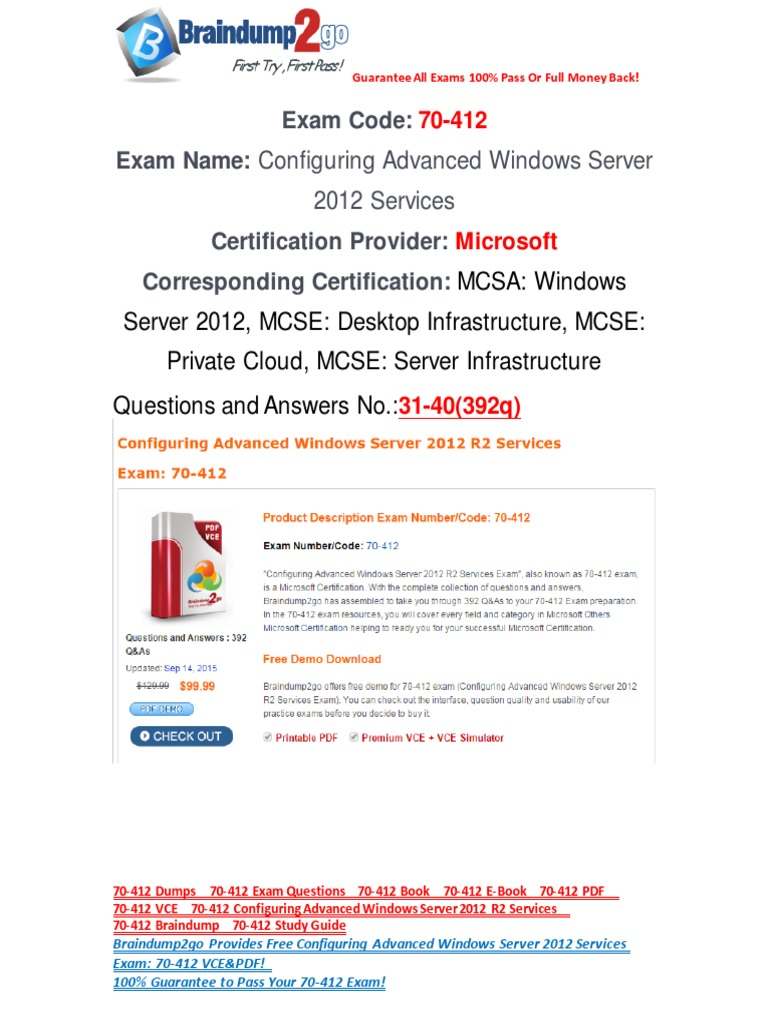 Freebraindump2go 70 412 exam questions download 31 40 active freebraindump2go 70 412 exam questions download 31 40 active directory hyper v 1betcityfo Choice Image