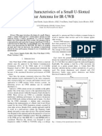 Design and Characteristics of a Small U-slotted Planar for IR-UWB