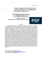 WING STRUCTURAL WEIGHT EVOLUTION WITH THE CRUISE MACH NUMBER OF A COMMERCIAL TRANSPORT AIRCRAFT