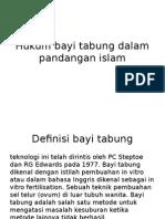 Hukum Bayi Tabung Dalam Pandangan Islam