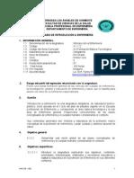Silabo Introduccion a Enfermeria 2009 -0
