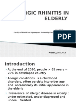 Allergic Rhinitis in Elderly