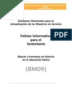 BM09 HISTORIA Educacion Basica