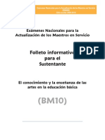 BM10 ARTES Educacion Basica