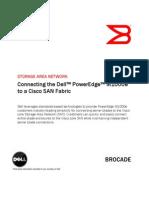 Connecting Dell Pedge m1000e to Cisco San Fabric En