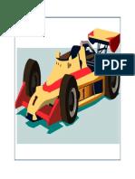 Race Car-cake Topper