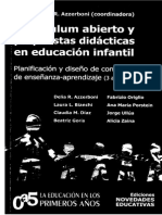 Azzerboni Delia Curriculum Abierto y Propuestas Didacticas en Educacion Infantil