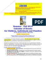 Calendar of Events - September 20, 2015