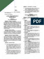 Ley 27815 Código de Etica de La Funcion Publica