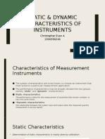 Static Dynamic Characteristics