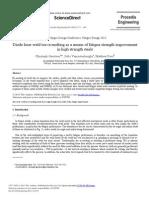 Probabilistic prediction of fatigue life of cracked parts
