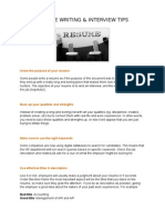 Resume and Interview Tips Jan 2015