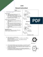 Manual Ceas Casio-modul 1343