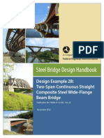 Two-Span Continuous Straight Composite Steel Wide-Flange Beam Bridge