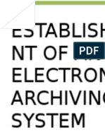 Electronic Archiving System Report