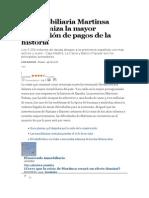 La Inmobiliaria Martinsa Protagoniza La Mayor Suspensión de Pagos de La Historia