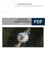 Water Meter Design Criteria Manual