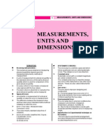 Measurements Units and Dimensions
