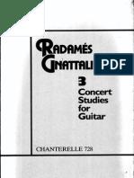 Gnattali, Radamés - 3 Concert Studies for Guitar