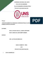 PTI - Aprovechamiento de RR. Agrodindustriales - Cascaras de Mango Para Elaboracion de Cupcakes