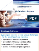 Opthalamic Anesthesia