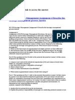 BU 470 Strategic Management Assignment 4 Describe the Strategic Management Process Answer