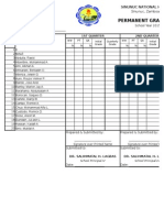 Permanent Grade Sheets -Blue