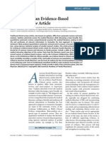 How to Write an Evidence-Based Clinical Review Article