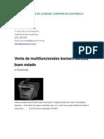 arreglo de Fotocopiadoras de Lexmark Comprar en Guatemala