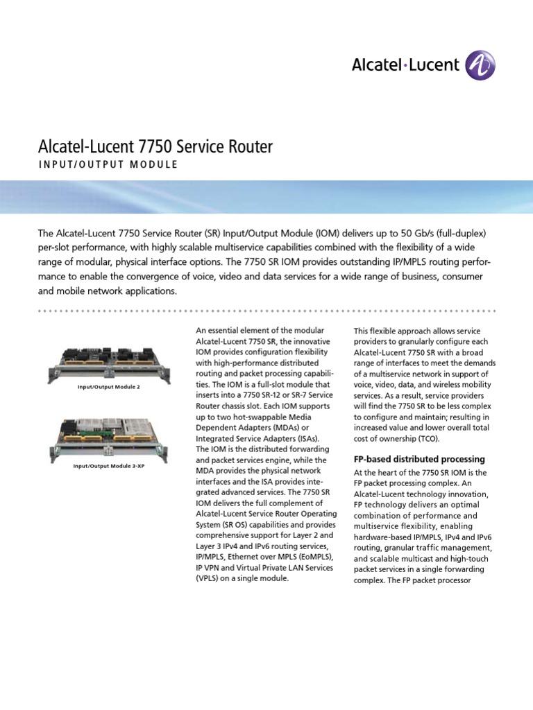 09Q4 Newsletter 7750 Sr Iom   Multiprotocol Label Switching