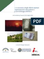 Valutazione economica degli effetti sanitari dell'inquinamento atmosferico