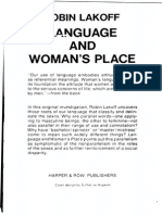 Language and Woman 039 s Place