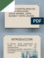 dietas hospitalarias en base a patologias
