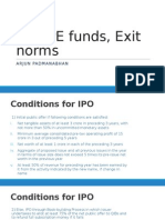 IPO, PE Funds and Exit norms