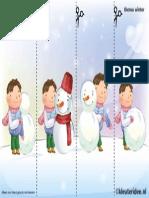 Leg de Plaatjes Van de Sneeuw in Logische Volgorde , Juf Petra Van Kleuteridee, Snowman Sequence Free Printable